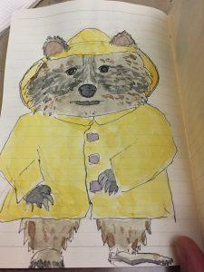 Yi Shun Lai watercolor raccoon