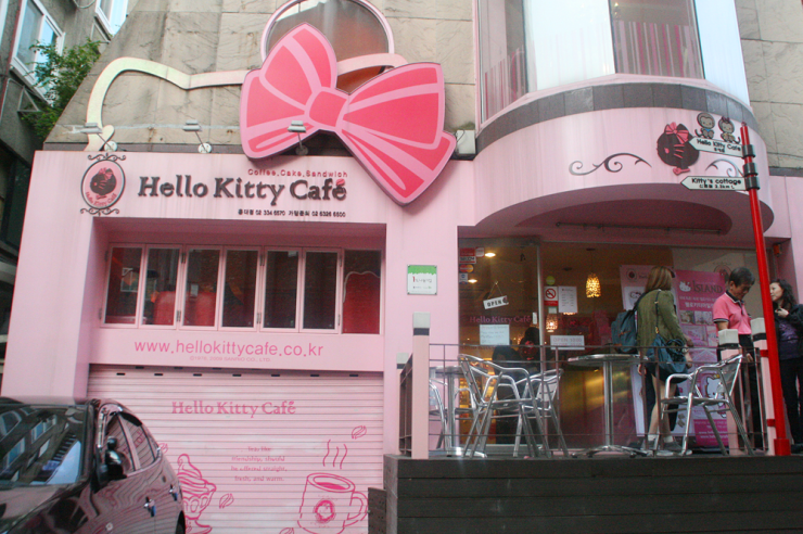 how to get to hello kitty cafe hongdae seoul