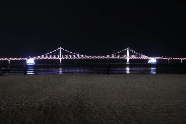 gwangalli beach, gwangan bridge busan korea 광안리해수욕장