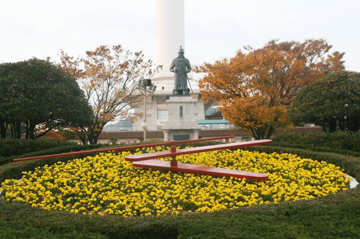 busan tower autumn
