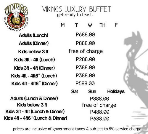 Vikings-Buffet-Prices