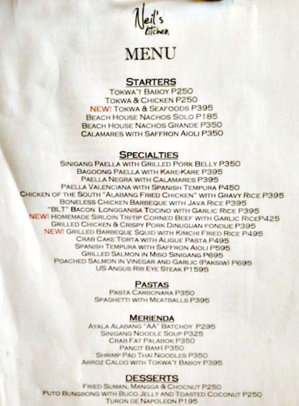 NK-menu
