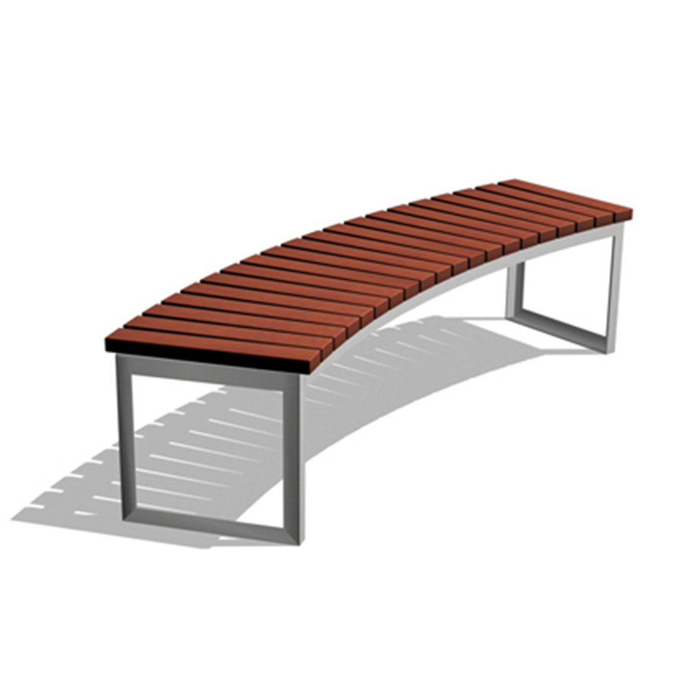 ara curved bench wood