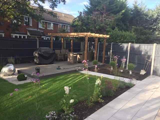a north facing garden gets a sunny