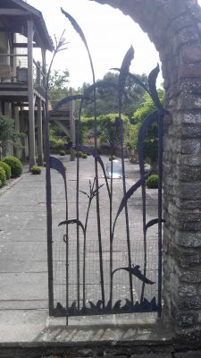 Pretty iron gate of 'grasses'