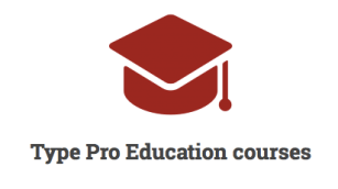 Type Pro Education course logo