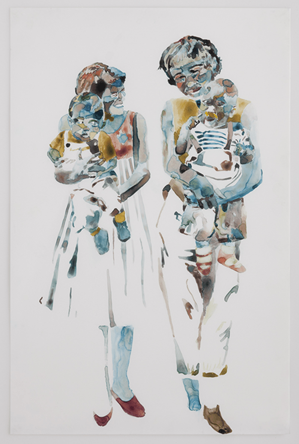 We could have been anywhere but we were holding two babies painting by Jenna Douglass