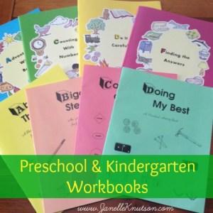 preschool and kindergarten workbook review