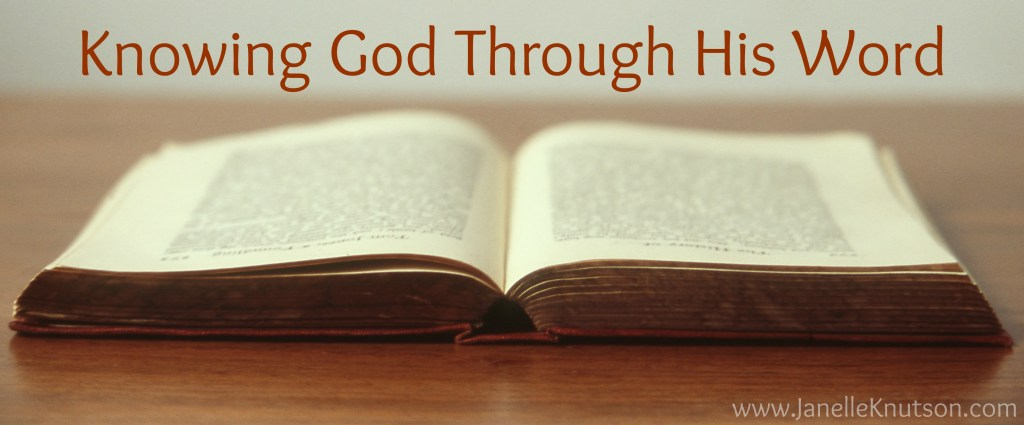 knowing God through His Word