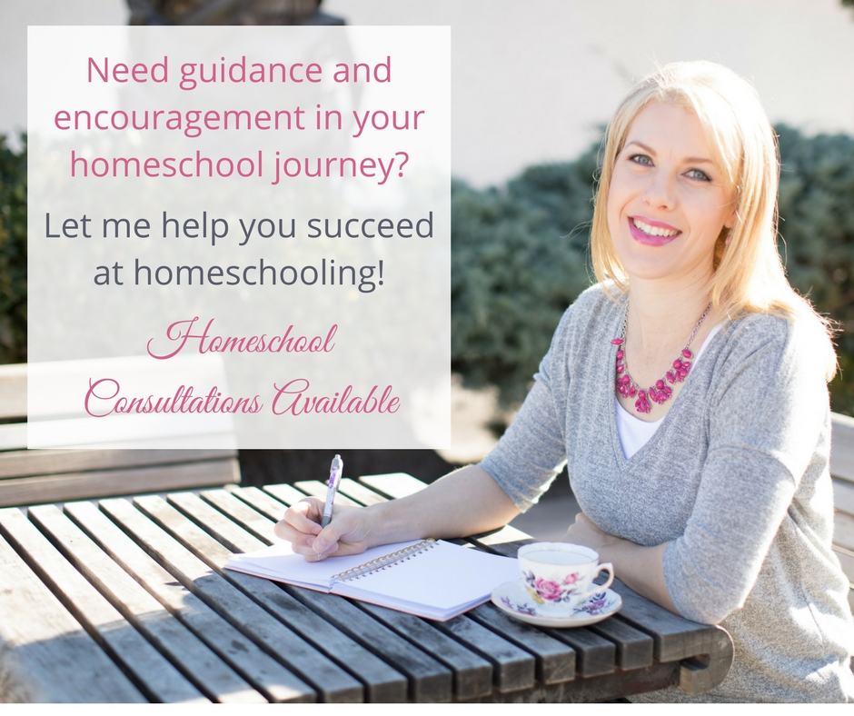 Let me help you succeed at homeschooling! Email and phone consultations available.