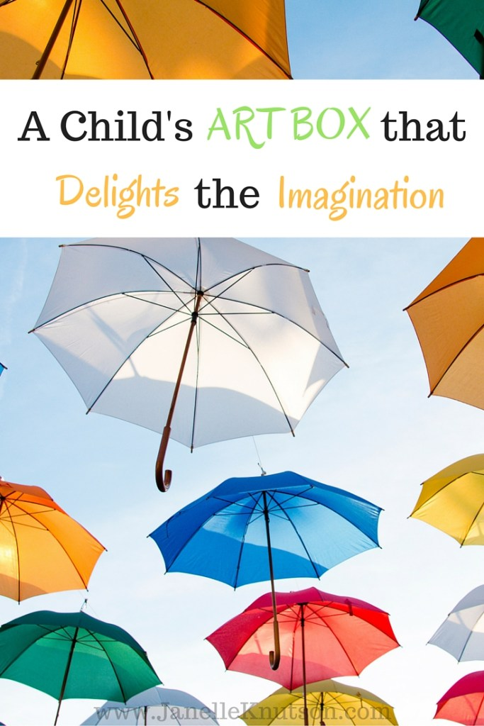 Create an art box that is easily accessible to your kids and stocked with supplies that will foster creativity and delight their imagination.