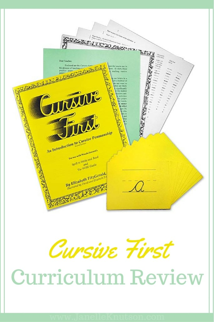 Cursive First is an excellent curriculum for teaching children cursive penmanship. It can be used with a wide range of ages with great results.
