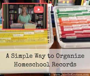 A Simple Way to Organize Homeschool Records