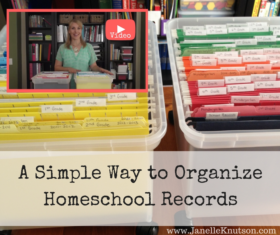A Simple Way to Organize Homeschool Records with VIDEO