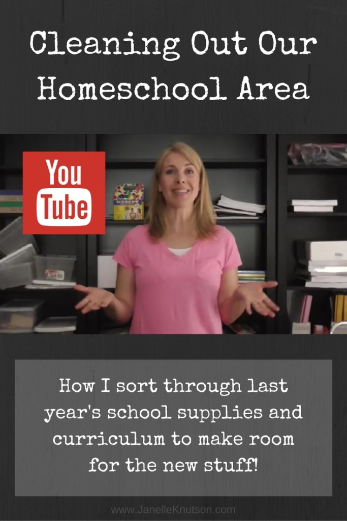 Cleaning out our homeschool area!