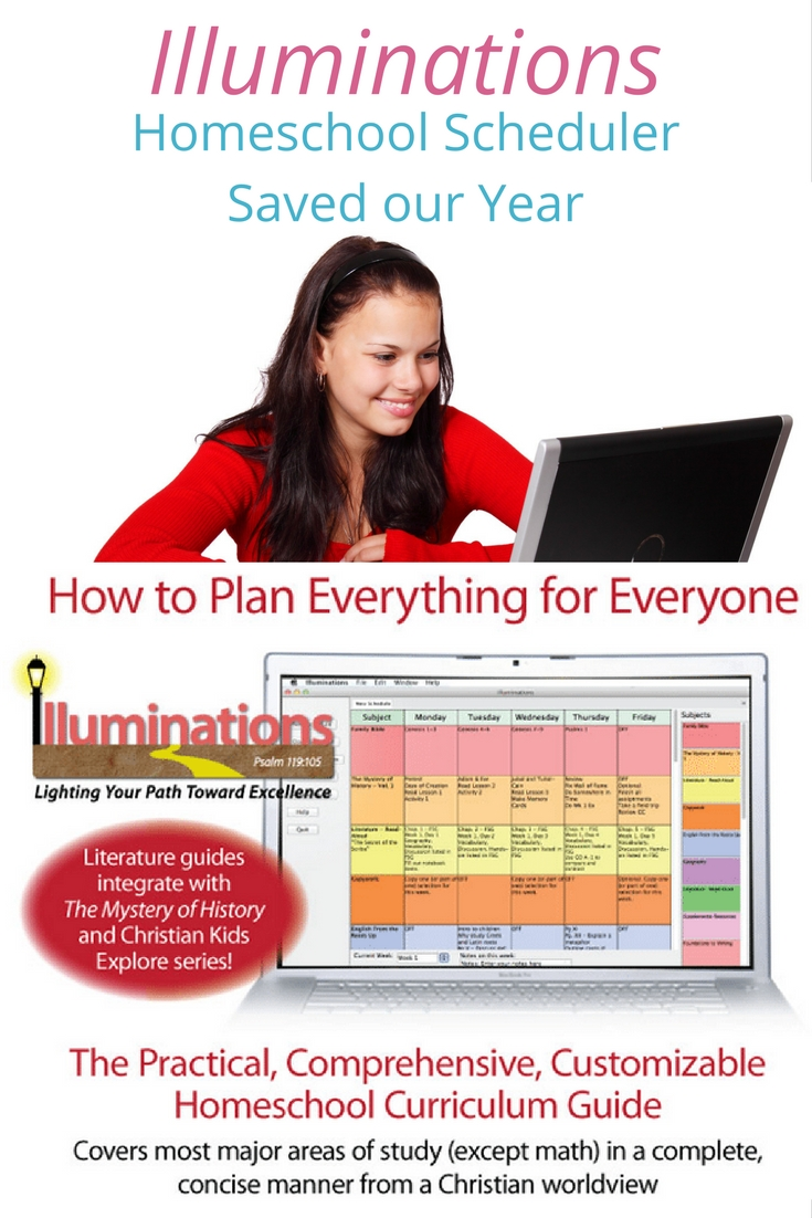 The Illuminations homeschool scheduler saved the year for my 6th grader. Check out what Illuminations from Bright Ideas Press is and how we used it.