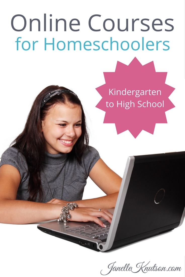 Check out this list of online courses for homeschoolers for kindergarten through high school!