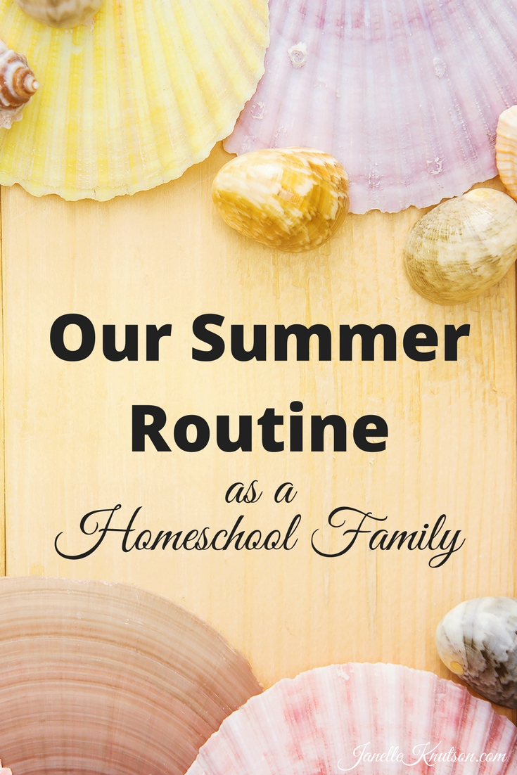 It's summertime and our school year is over but with a large homeschooling family a summer routine is important. Here's what our summer routine looks like.