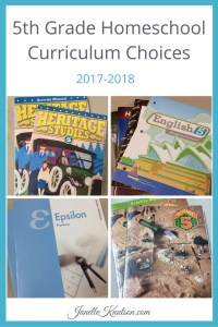 5th Grade Homeschool Curriculum Choices 2017-2018