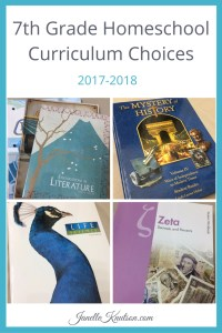 7th Grade Homeschool Curriculum Choices 2017-2018