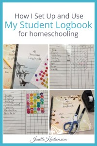 How I Set Up and Use My Student Logbook