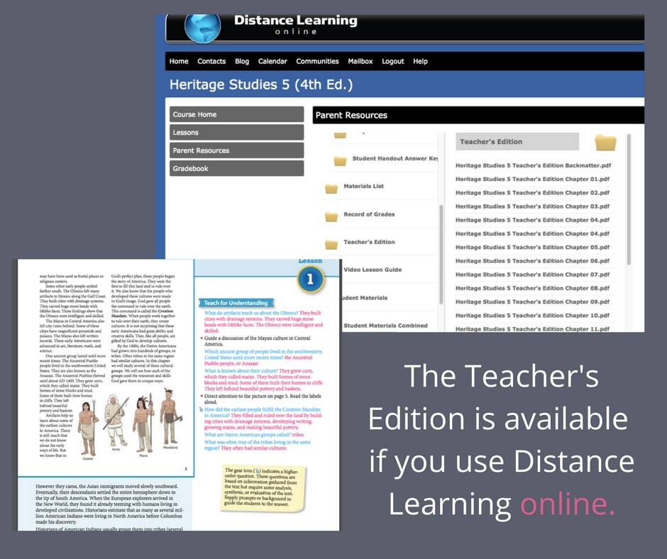BJU Press Teacher's Edition is available for free when you use Distance Learning online.