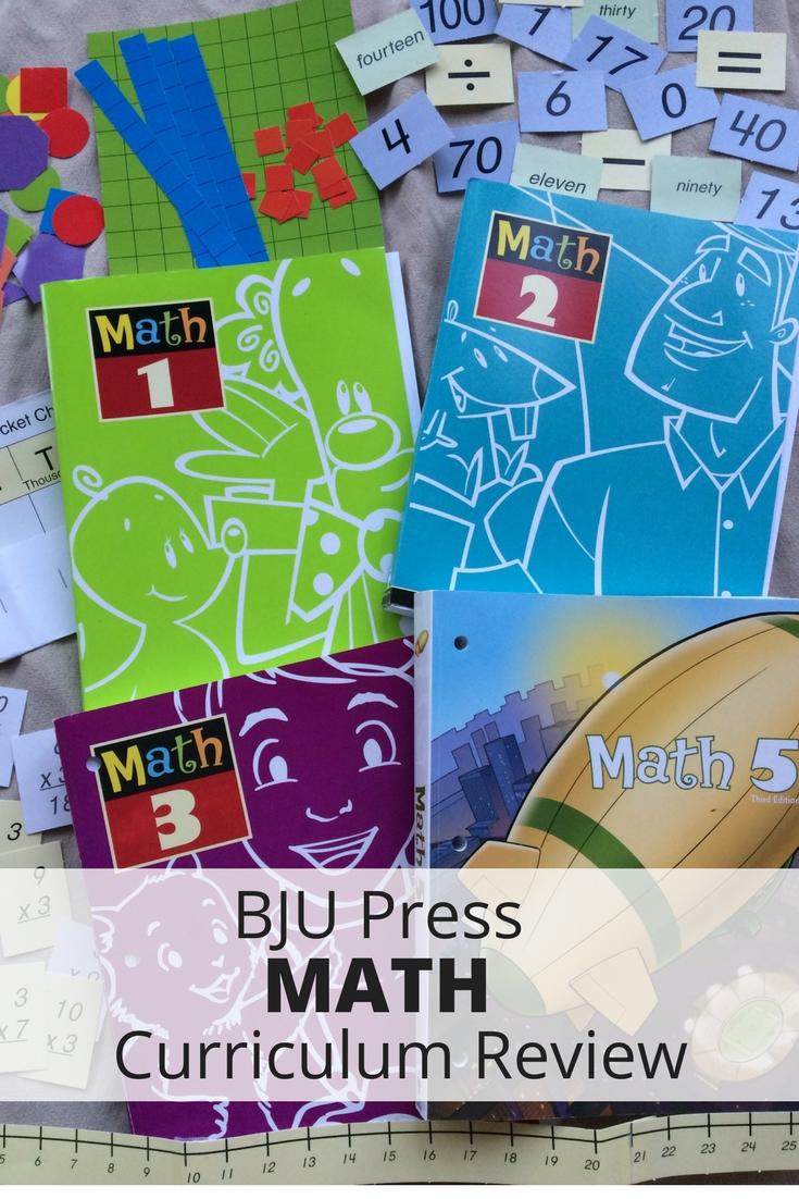 BJU Press Math Curriculum Review - Janelle Knutson