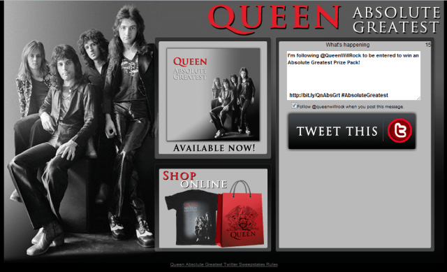 Queen for Universal Music Group Distribution entertainment design graphics