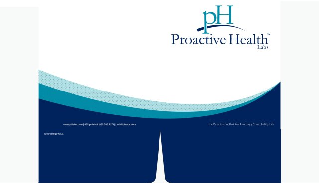 Presentation Folder Design for Proactive Health