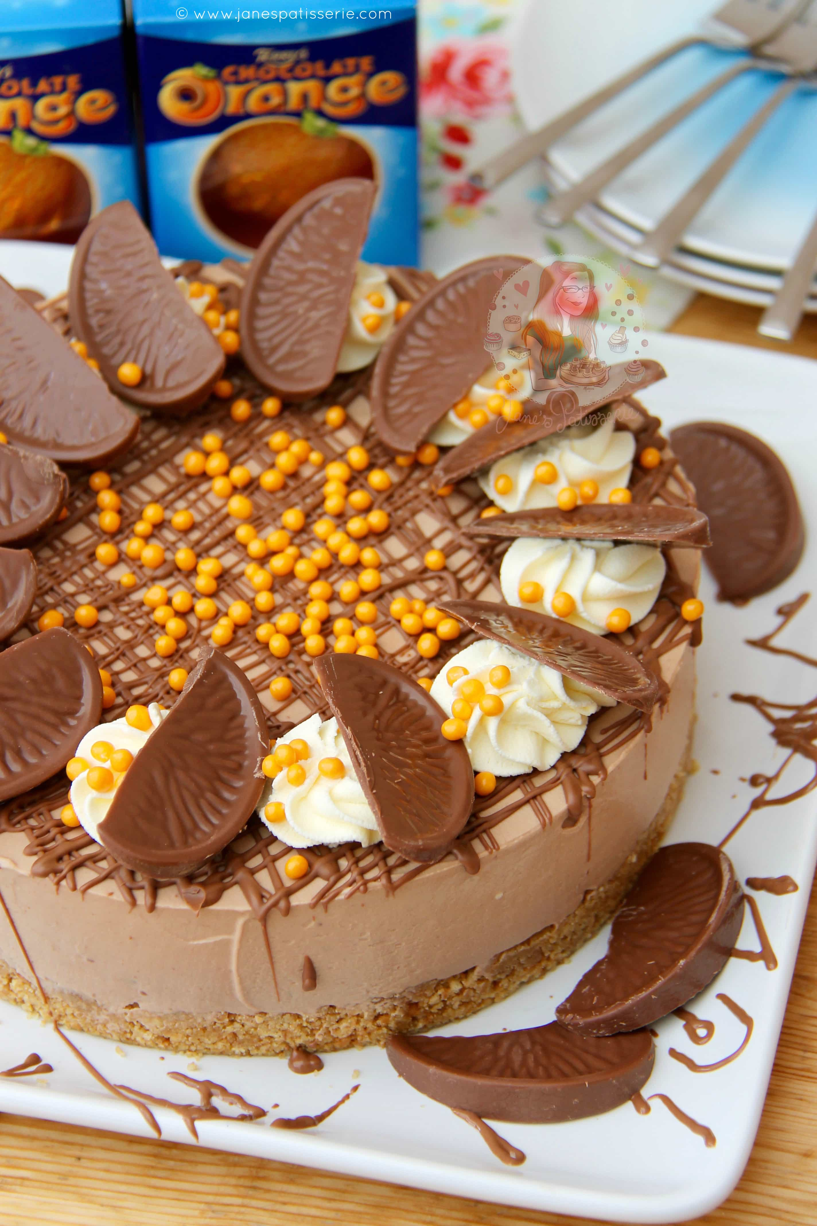 No-Bake Terry's Chocolate Orange Cheesecake! - Jane's Patisserie