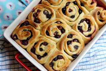 Lemon & Blueberry Sweet Rolls!
