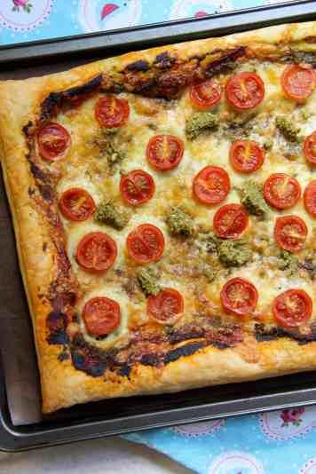 Pesto, Cheese & Tomato Tart