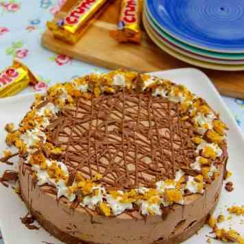 Honeycomb Crunchie Cheesecake