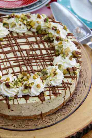 White Chocolate Pistachio Cheesecake