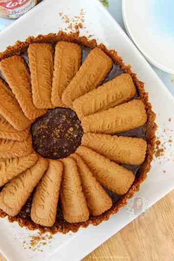 No-Bake Biscoff Tart