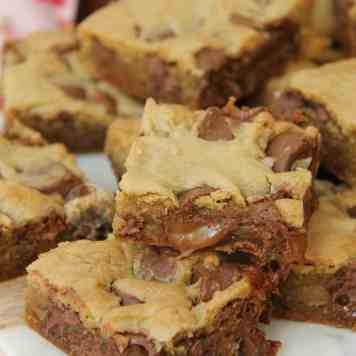 Rolo Cookie Bars!