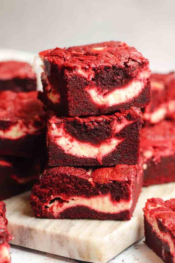 Keto Red Velvet Brownies