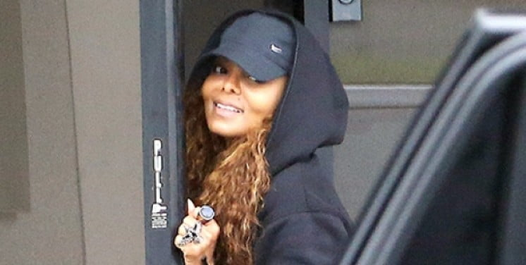 Janet Jackson at dance studio in Los Angeles