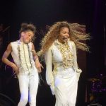 Janet Jackson performs on Unbreakable Tour