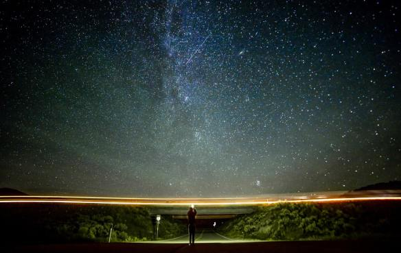 Pexels photo of night road and galaxies