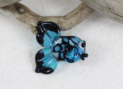 Black And Blue Fish Bead by Janet Crosby