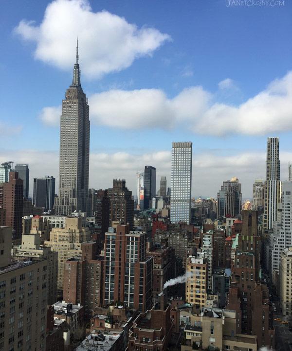 NYC SKyline on a Blue Sky Day - Janet Crosby