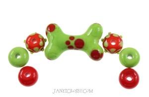 Brights - Dog Bone Set - janetcrosby.com
