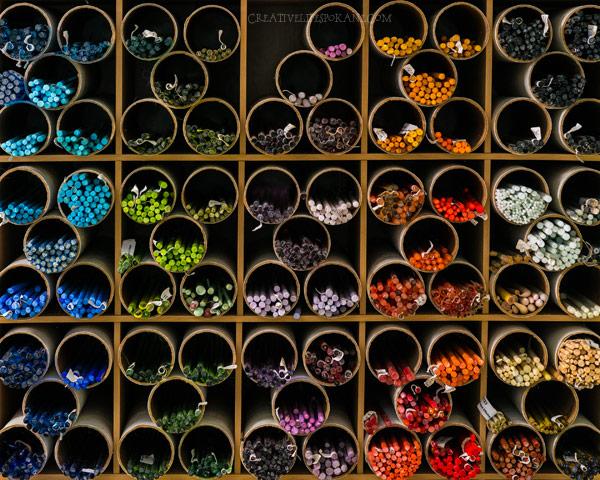 Glass Rod Storage - www.JanetCrosby.com