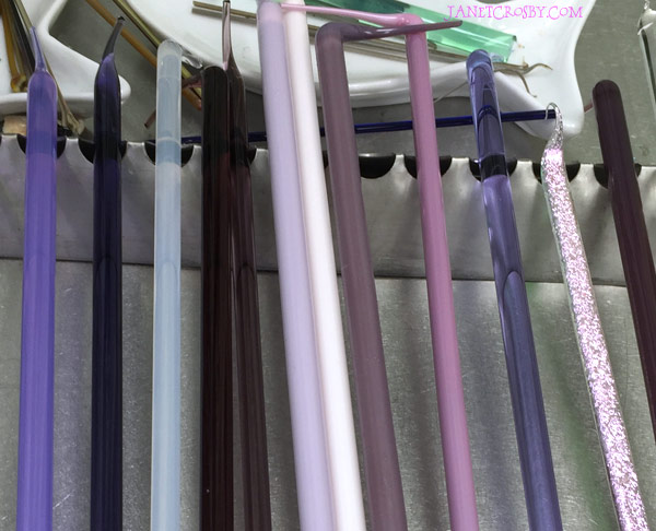 Purple Glass Rods for Lampworking - janetcrosby.com
