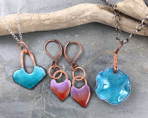 Enameled Jewelry by Janet Crosby