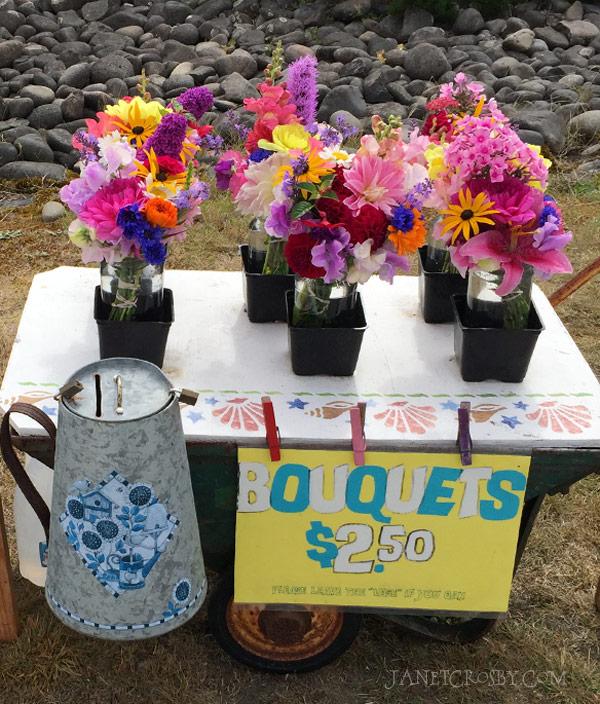 Sidewalk Flower Stand