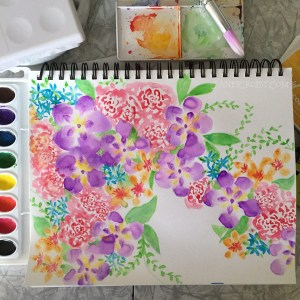 Watercolor Flowers - janetcrosby.com