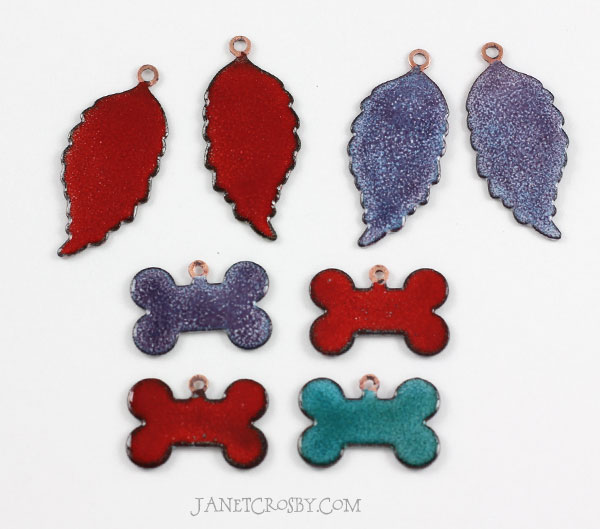 Enameled Leaves and Dog Bones - janetcrosby.com
