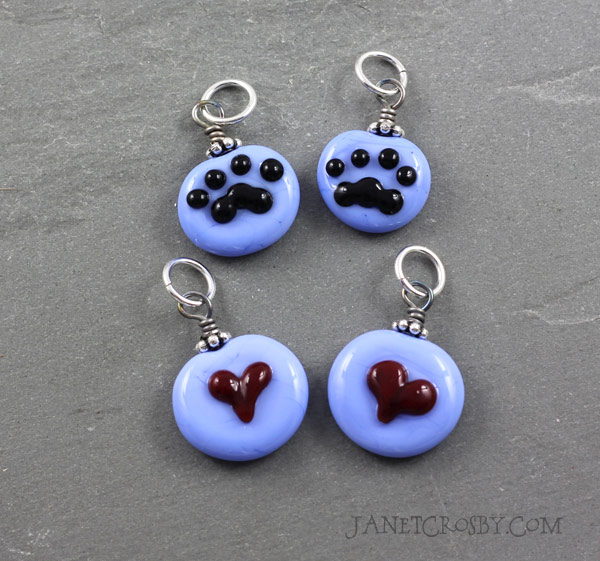 Paws and Hearts Charms - Janet Crosby